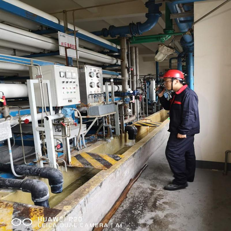 泰安东平某电厂反渗透杀菌剂使用现场